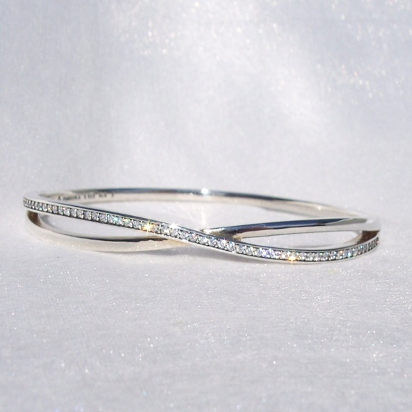 f263d228a Pandora ENTWINED Bangle Bracelet Sterling CZ. M_5bd602cb12cd4a10c1d50343